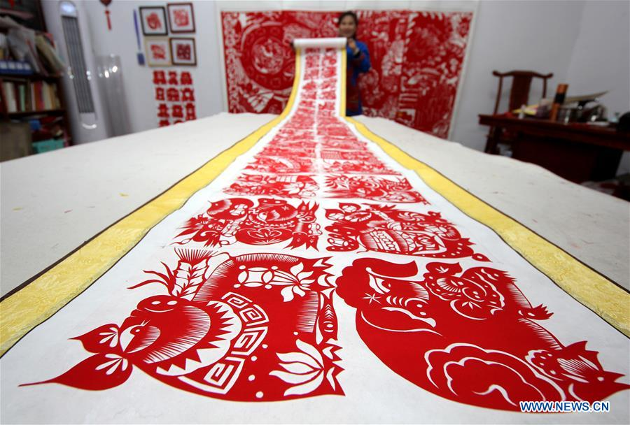 #CHINA-SHANDONG-SPRING FESTIVAL-PAPER-CUTTING ARTWORK (CN)