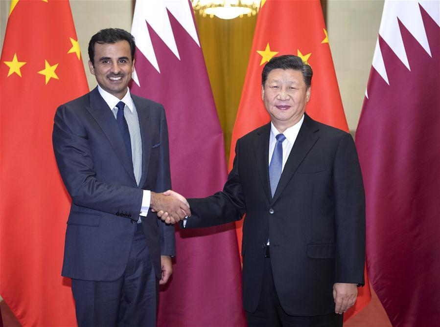 CHINA-BEIJING-XI JINPING-QATARI EMIR-TALKS (CN)