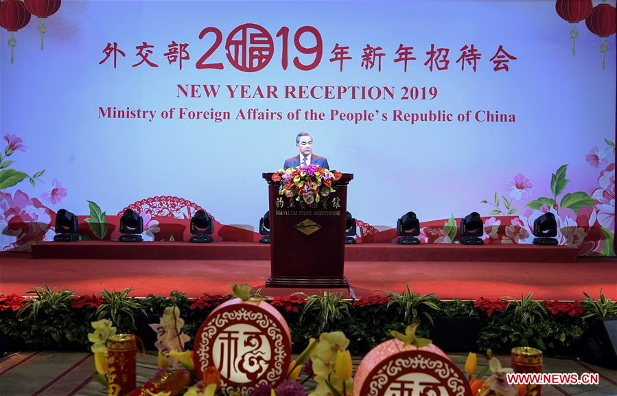 CHINA-BEIJING-MINISTRY OF FOREIGN AFFAIRS-NEW YEAR RECEPTION (CN)