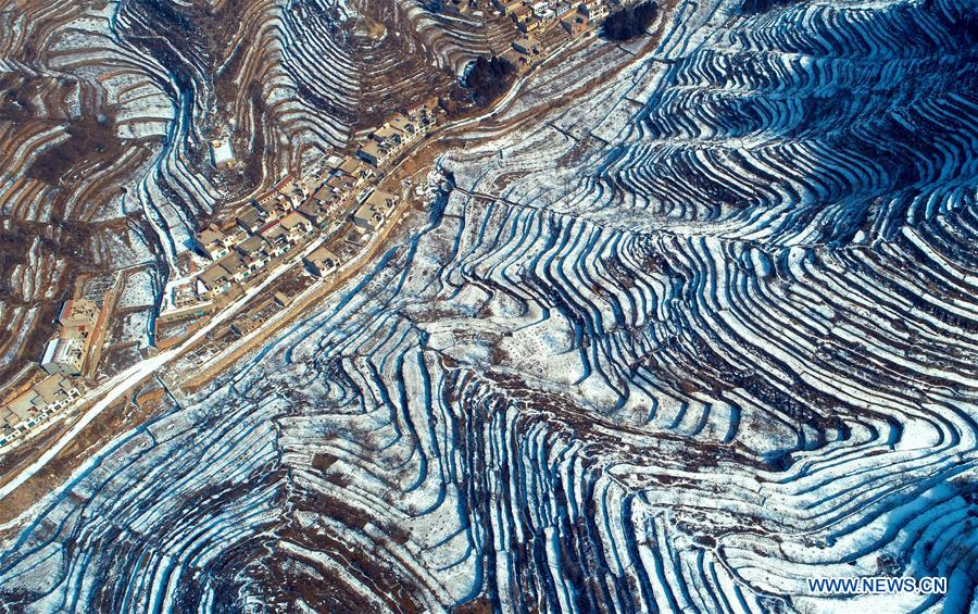 CHINA-HEBEI-TERRACED FIELD-SNOW (CN)