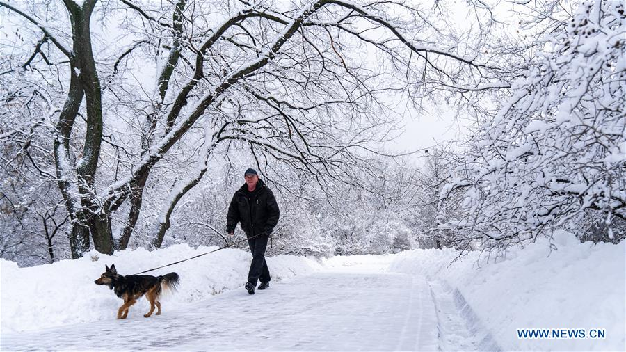 RUSSIA-MOSCOW-PARK IN SNOW