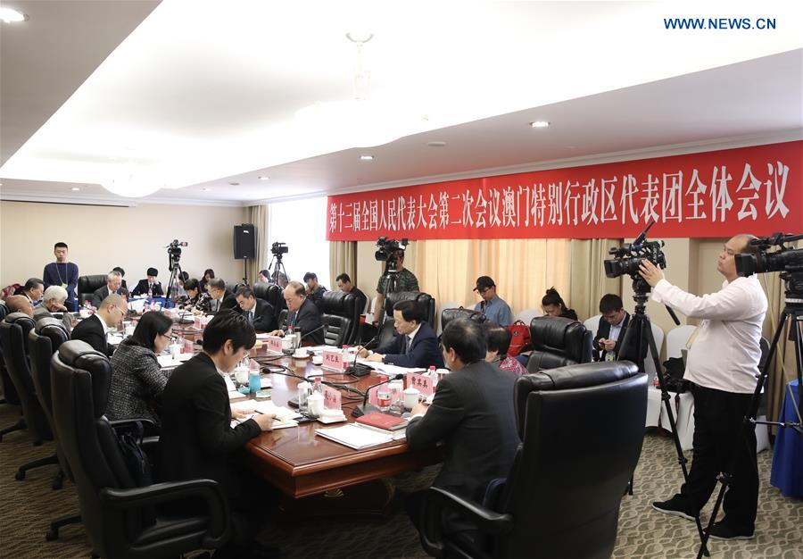 (TWO SESSIONS)CHINA-BEIJING-NPC-MACAO DELEGATION-PLENARY MEETING (CN)