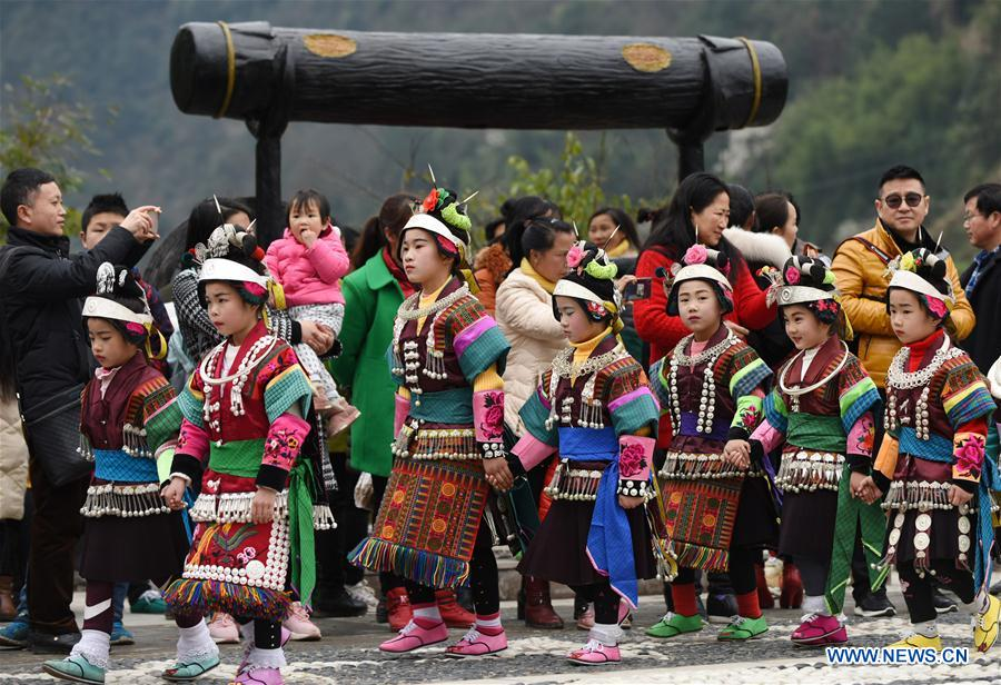 CHINA-GUIZHOU-ETHNIC MIAO-FANGU FESTIVAL-DRUMMING CELEBRATION(CN)