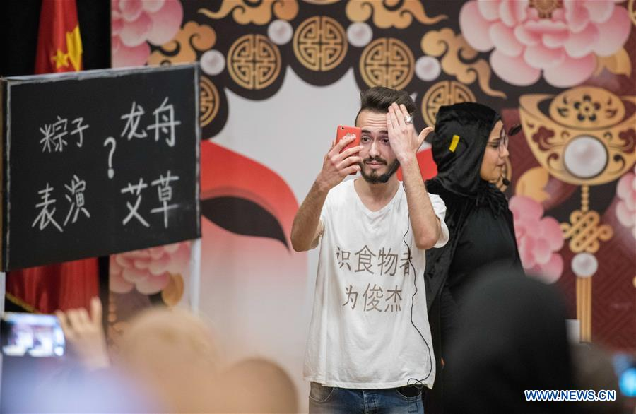 EGYPT-CAIRO-CHINESE-LANGUAGE COMEDY COMPETITION-EGYPTIAN COLLEGE STUDENTS