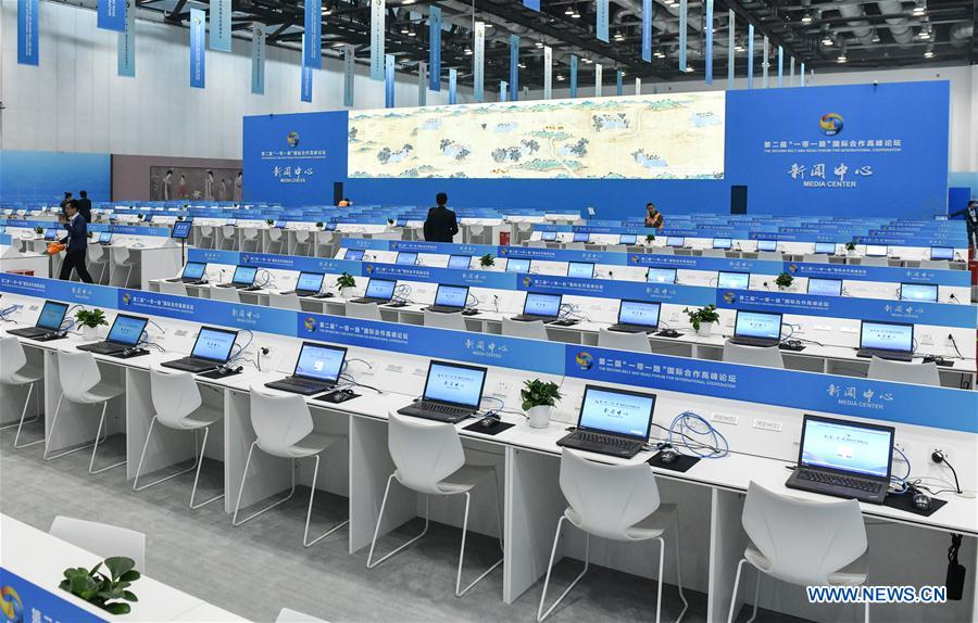 CHINA-BEIJING-BELT AND ROAD FORUM-MEDIA CENTER-TRIAL OPERATION (CN)