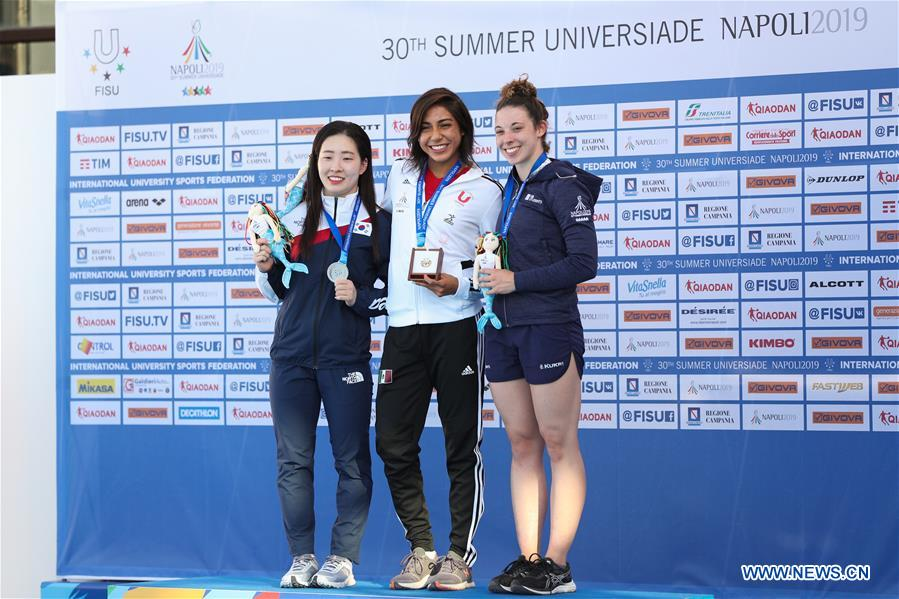 (SP)ITALY-NAPLES-SUMMER UNIVERSIADE-DIVING-WOMEN'S 10M PLATFORM-MEDAL CEREMONY