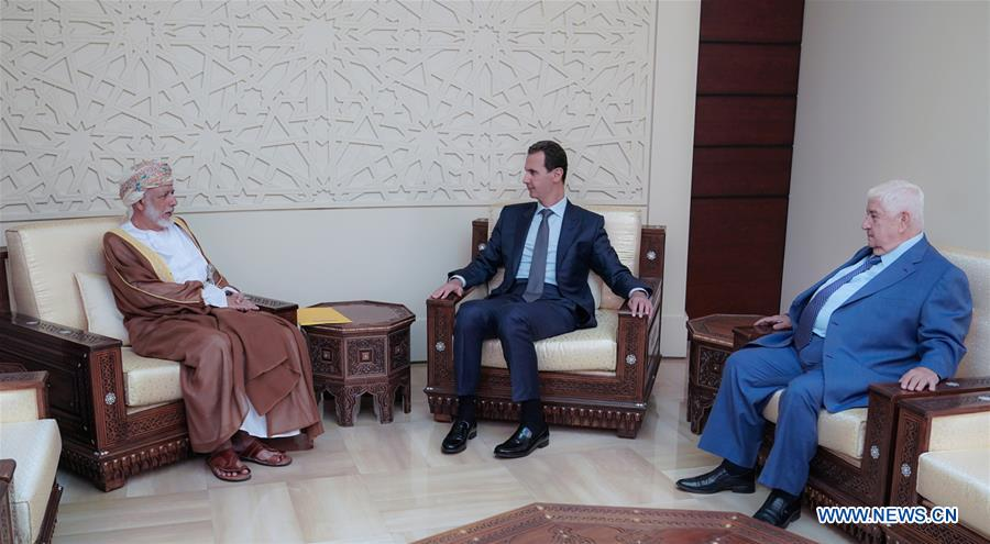 SYRIA-DAMASCUS-ASSAD-OMAN-FM-MEETING