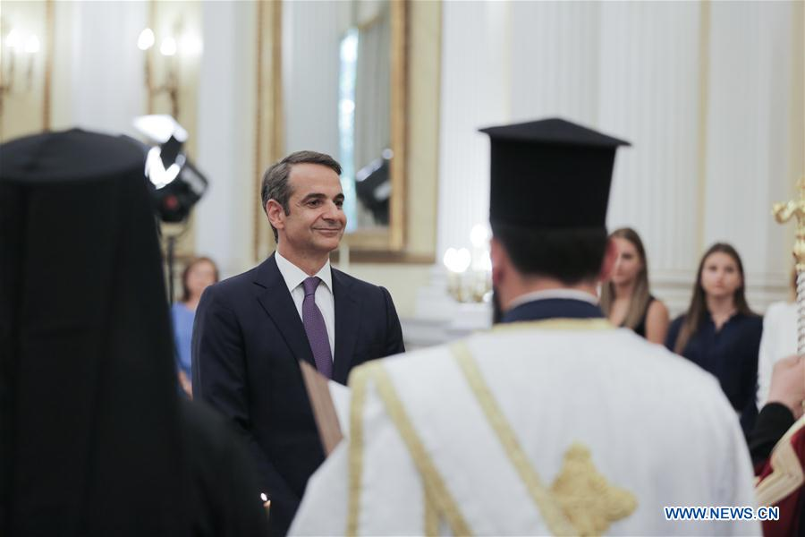 GREECE-ATHENS-MITSOTAKIS-PM-SWEAR IN