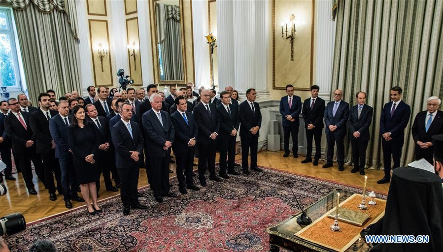 GREECE-ATHENS-GOVERNMENT-SWEARING-IN CEREMONY