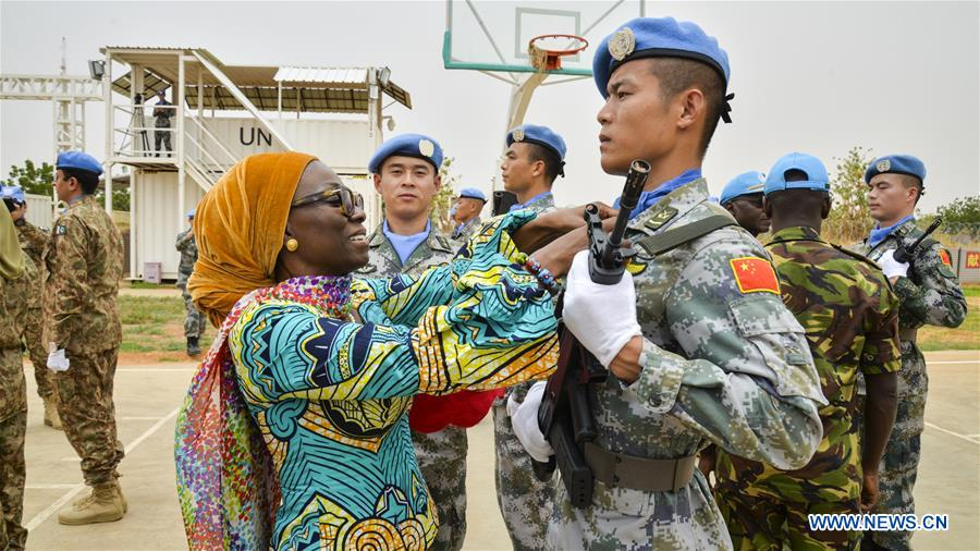SUDAN-DARFUR-CHINESE PEACEKEEPING CONTINGENT-UN PEACE MEDALS