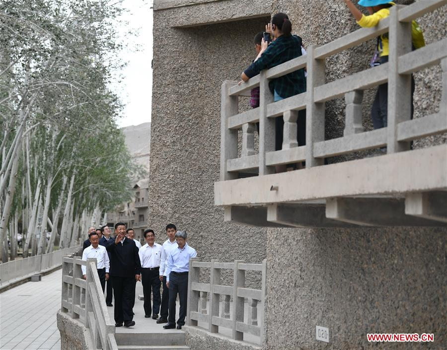 CHINA-GANSU-XI JINPING-INSPECTION (CN)