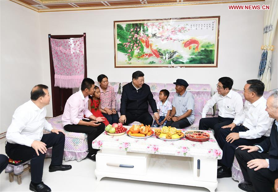 CHINA-GANSU-WUWEI-XI JINPING-INSPECTION (CN)