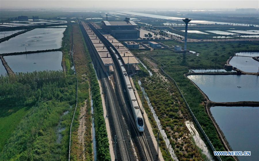 CHINA-HEBEI-CAOFEIDIAN-HIGH-SPEED RAILWAY-OPERATION (CN)
