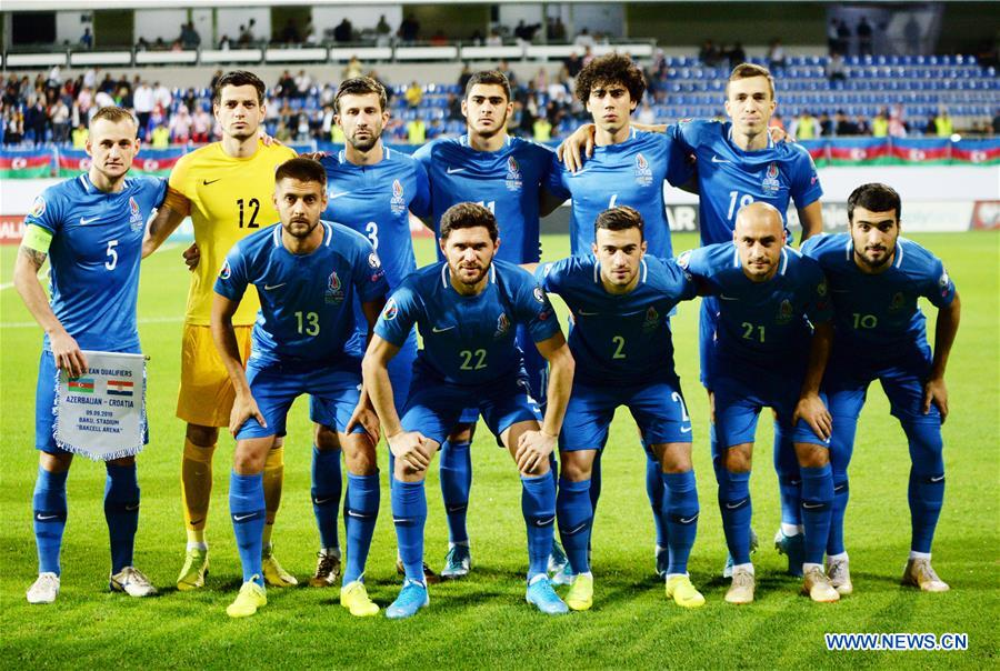 (SP)AZERBAIJAN-BAKU-FOOTBALL-UEFA-EUROPEAN QUALIFIERS