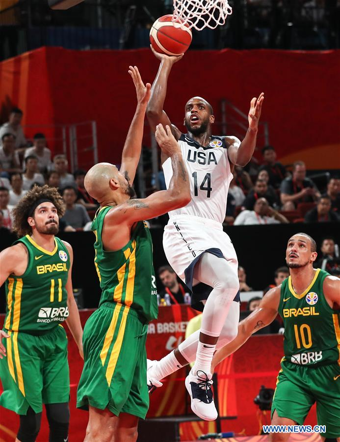 (SP)CHINA-SHENZHEN-BASKETBALL-FIBA WORLD CUP-GROUP K-USA VS BRA(CN)