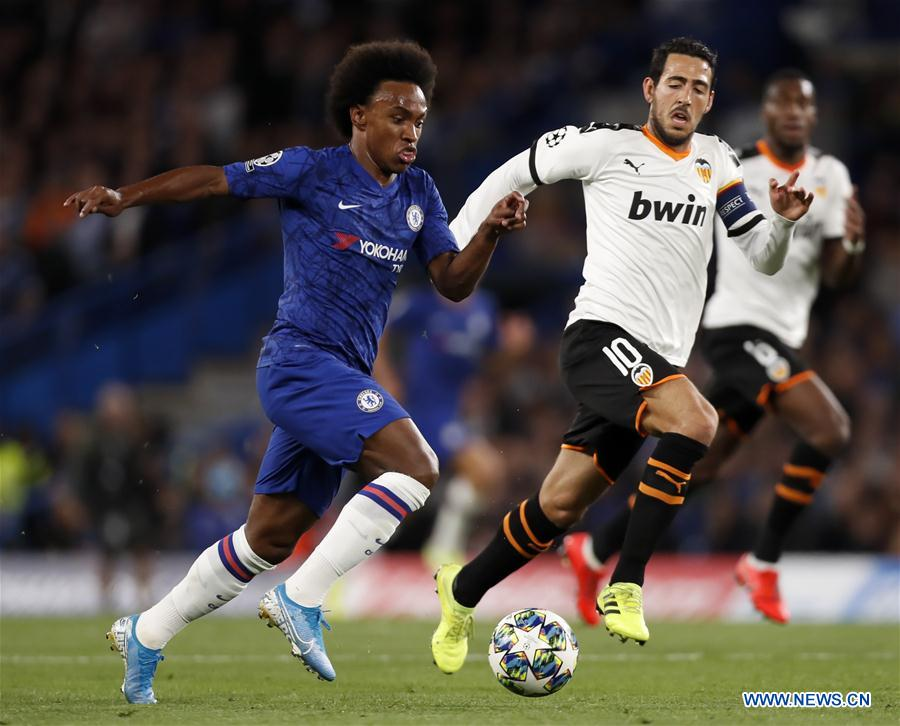 (SP) BRITAIN-LONDON-SOCCER-CHAMPIONS LEAGUE-CHELSEA VS VALENCIA