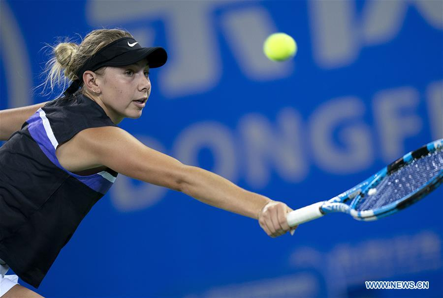 Highlights of women's singles second round match at WTA Wuhan Open