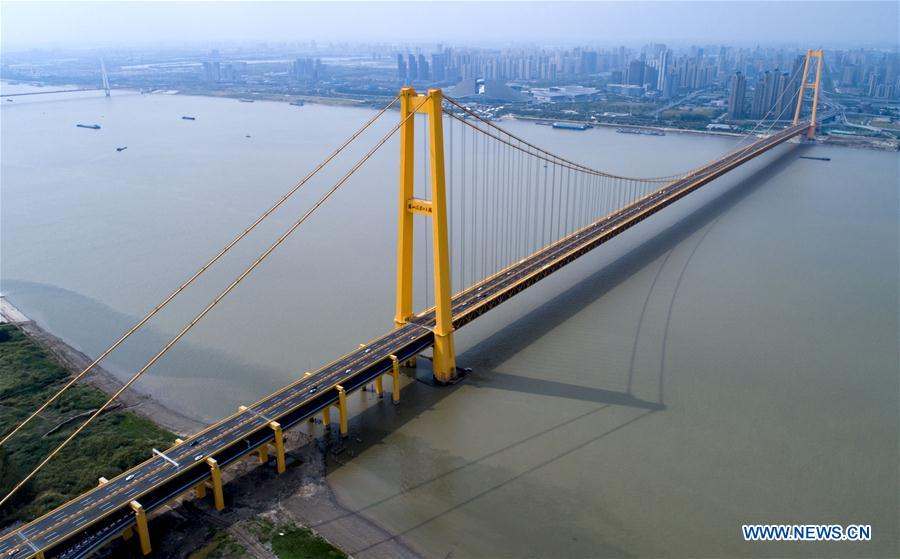 CHINA-HUBEI-WUHAN-DOUBLE-DECK SUSPENSION BRIDGE-OPENING TO TRAFFIC (CN)