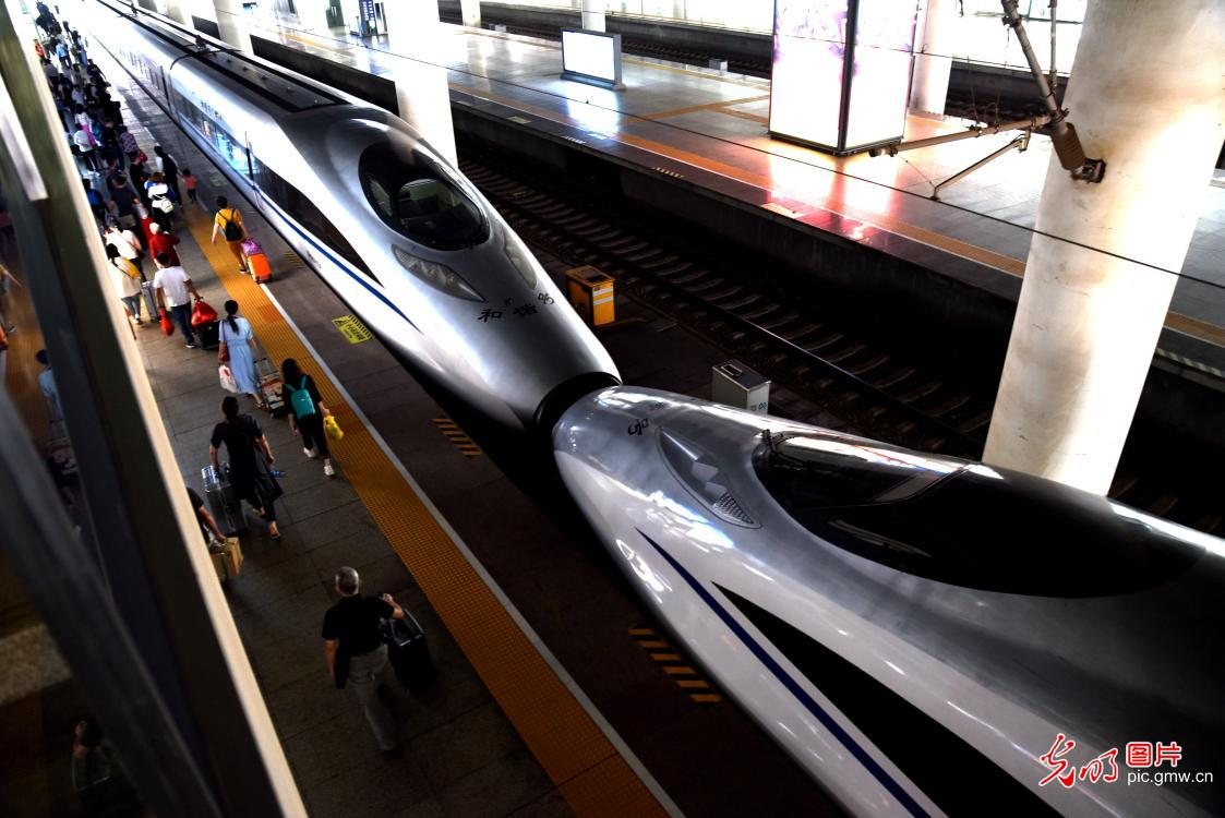 New train diagram puts into operation in China from Oct. 11