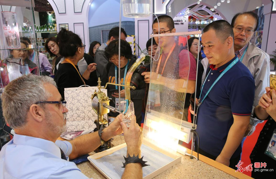 Intangible cultural heritages exhibited at 2nd CIIE