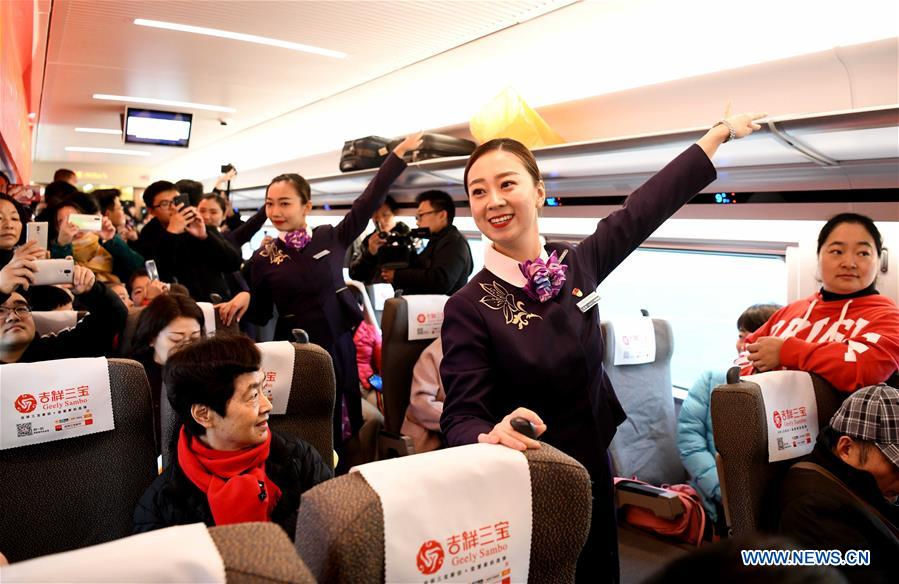 High-speed railway linking Shangqiu and Hefei, Zhengzhou and Fuyang put into operatioin