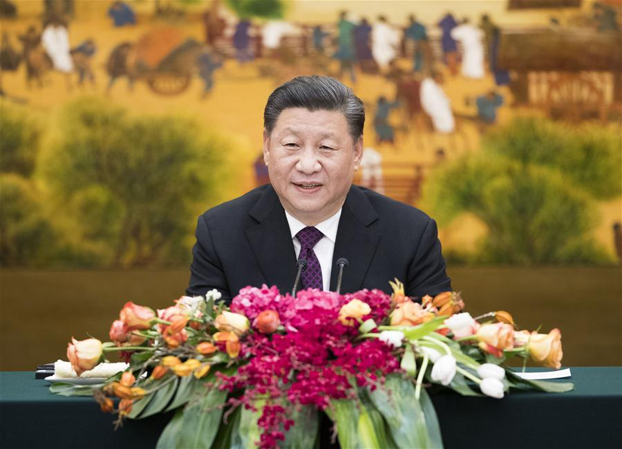 CHINA-BEIJING-XI JINPING-FOREIGN DELEGATES-IMPERIAL SPRINGS INT'L FORUM-MEETING (CN)