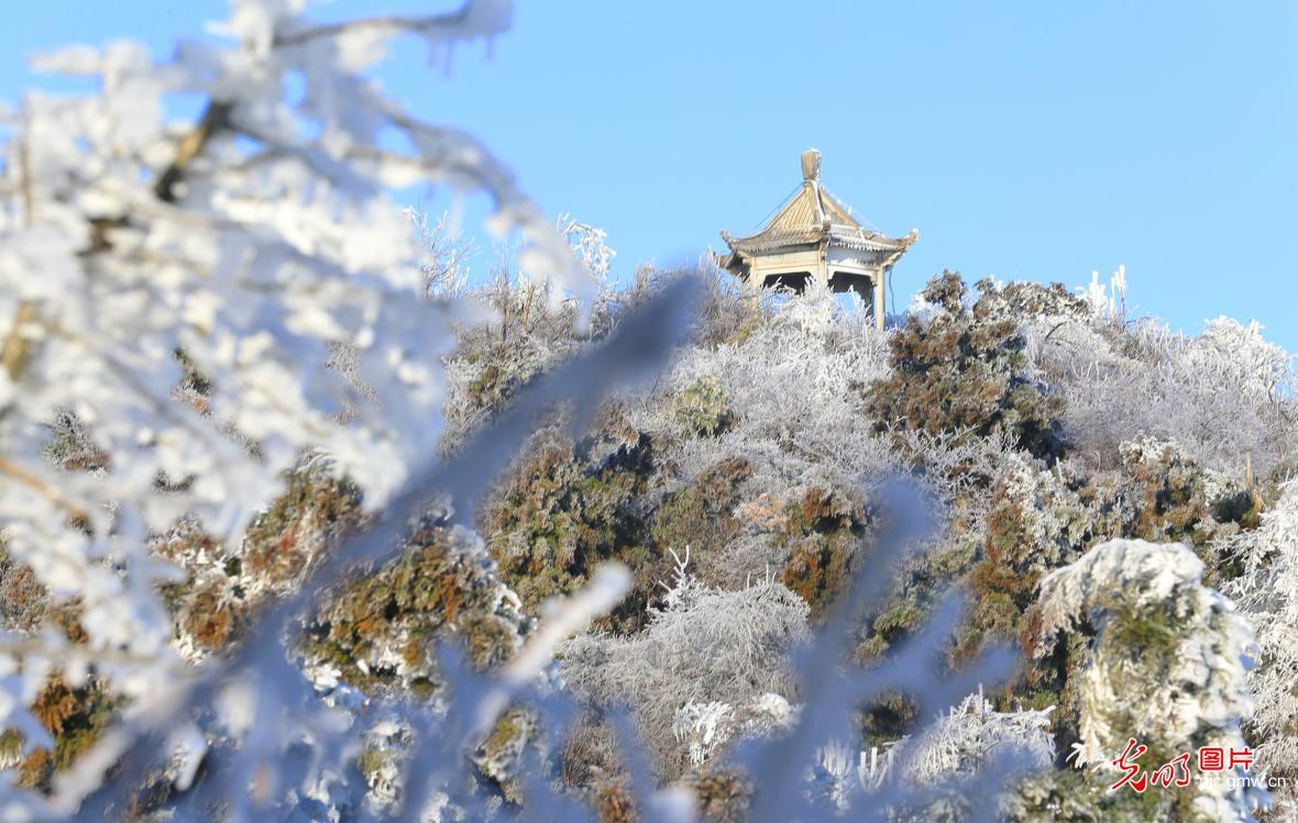 Snow scenery at Hengshan Mountain, C China's Hunan