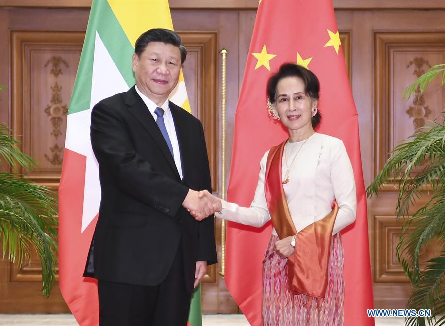 MYANMAR-NAY PYI TAW-XI JINPING-AUNG SAN SUU KYI-TALKS