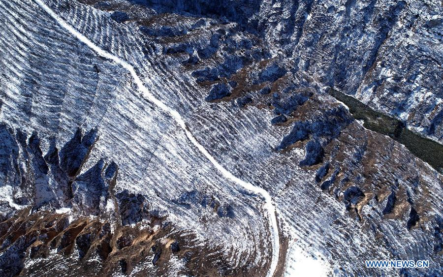 CHINA-SHAANXI-YAN'AN-SNOW SCENERY (CN)
