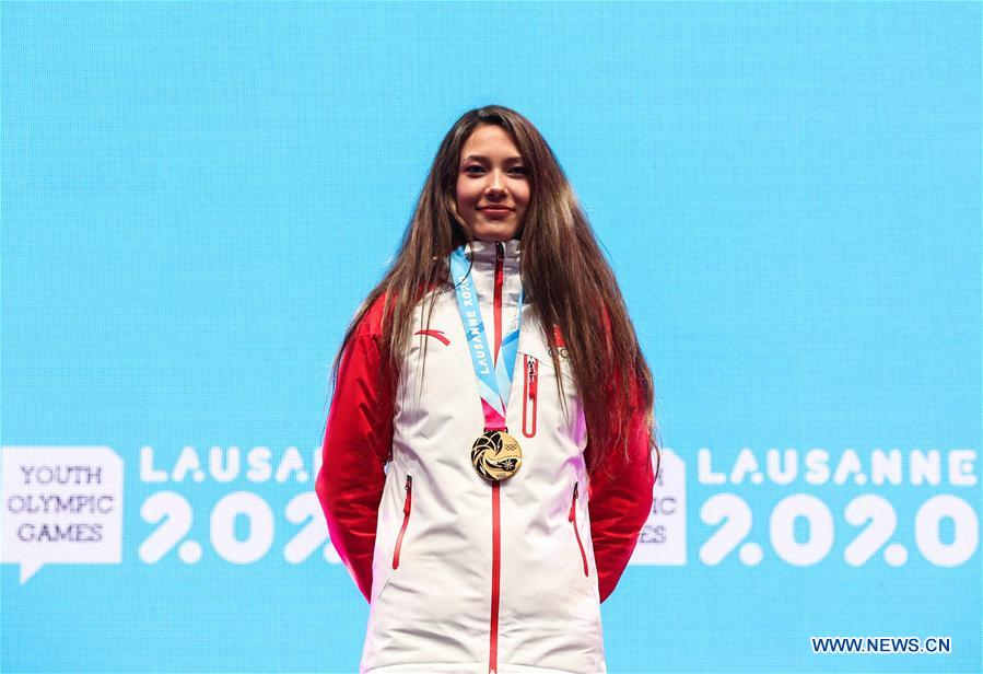 (SP)SWITZERLAND-LAUSANNE-WINTER YOG-MEDAL CEREMONY