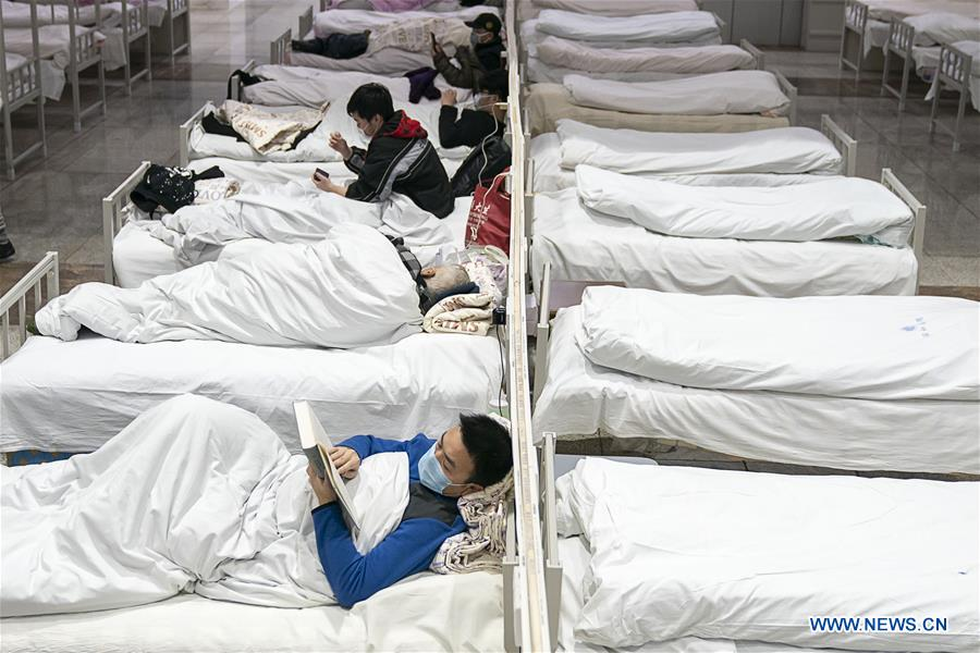 Makeshift hospitals start to accept patients in China's Wuhan