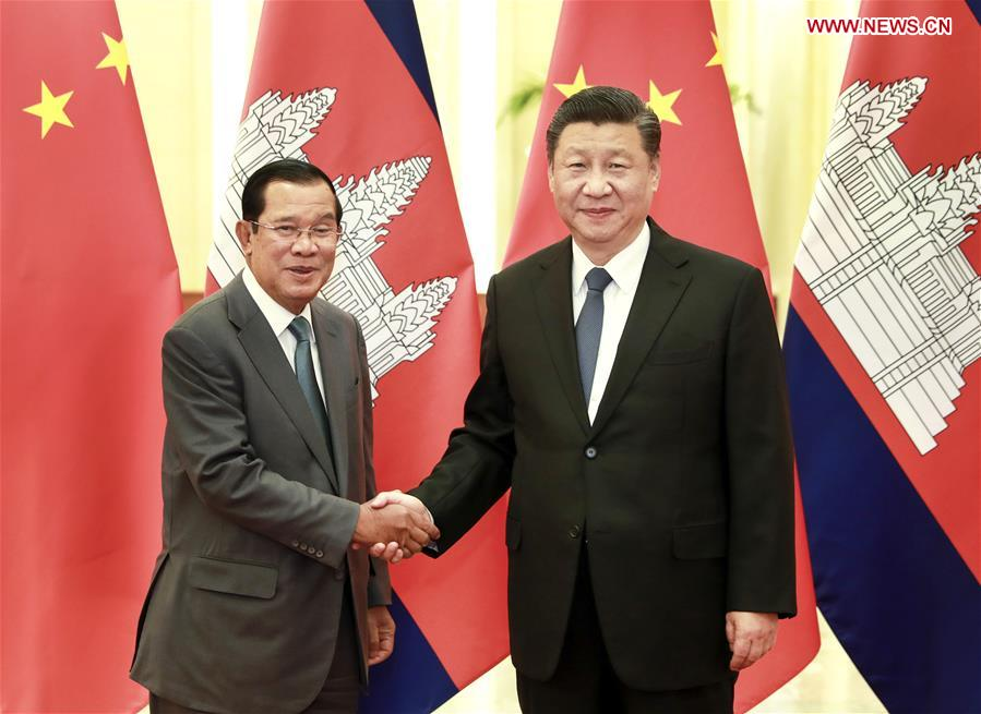 CHINA-BEIJING-XI JINPING-CAMBODIAN PM-MEETING (CN)