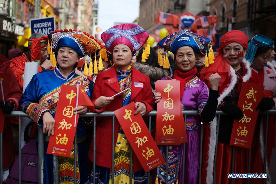 U.S.-NEW YORK-CHINESE LUNAR NEW YEAR-PARADE