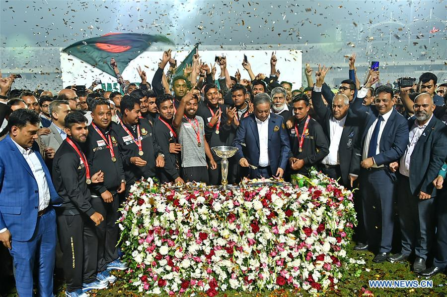 (SP)BANGLADESH-DHAKA-ICC U19 CRICKET WORLD CUP-WINNING SQUAD
