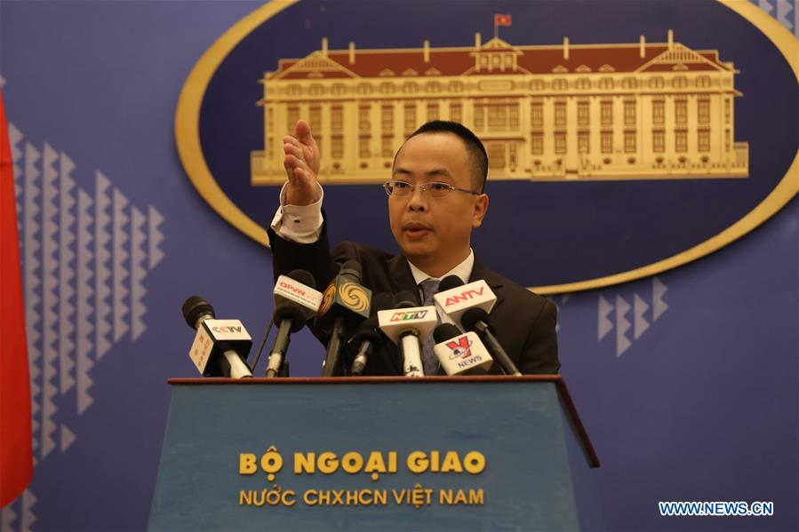 VIETNAM-HANOI-CHINA-PRESS CONFERENCE-COVID-19