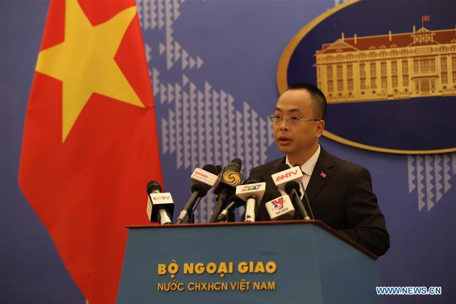 VIETNAM-HANOI-CHINA-PRESS CONFERENCE-COVID-19