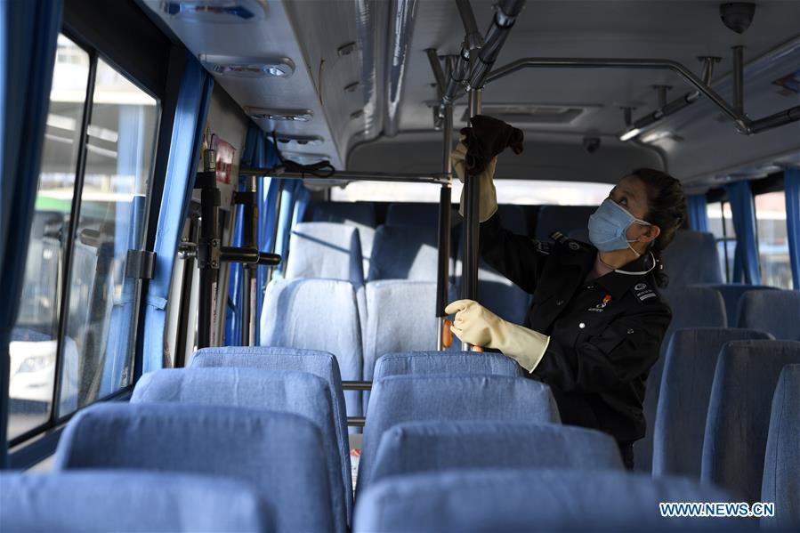 (FOCUS) CHINA-NINGXIA-NOVEL CORONAVIRUS-EPIDEMIC-HEALTH WORKER-COMMUTER BUS DRIVER (CN)