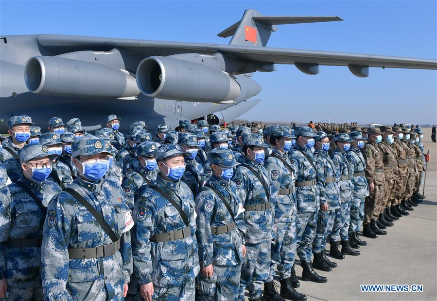 CHINA-HUBEI-WUHAN-NOVEL CORONAVIRUS-AIR FORCE-MILITARY MEDICS (CN)