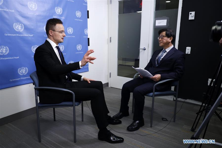 UN-HUNGARY-FM-INTERVIEW-CHINA-FIGHT-CORONAVIRUS