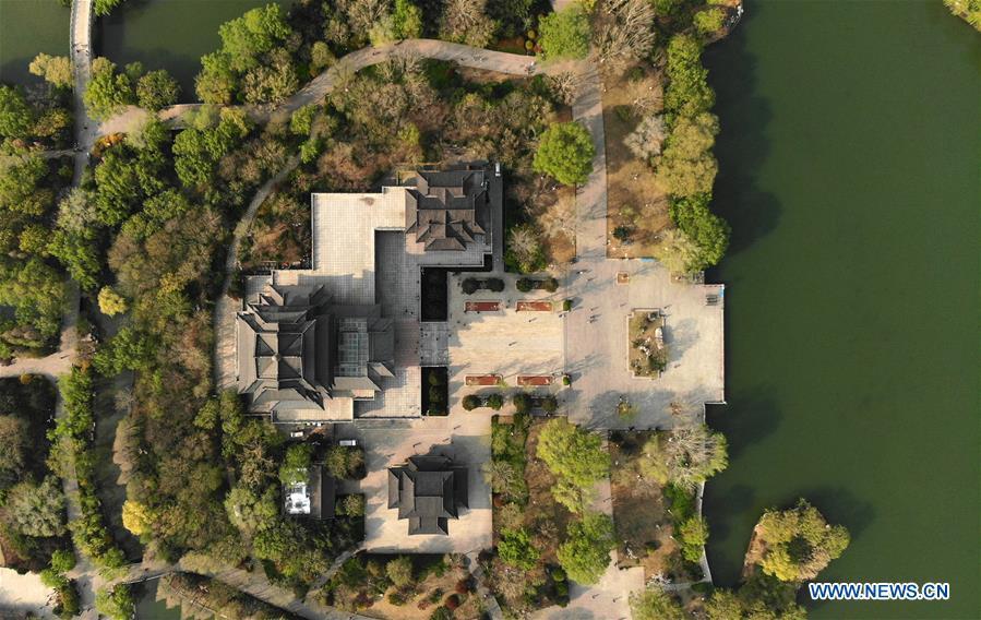 Spring scenery of Daming Lake in Jinan