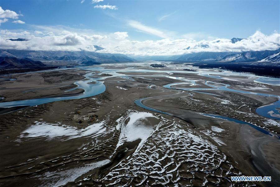 CHINA-TIBET-YARLUNG ZANGBO RIVER-SNOW SCENERY (CN)