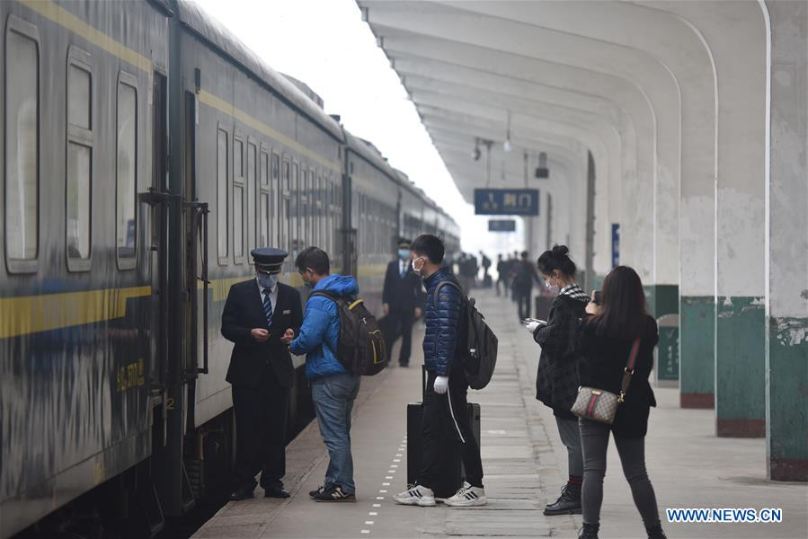 Railway services begin to resume in Hubei