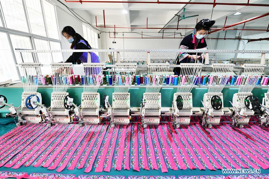 CHINA-GUIZHOU-QIANDONGNAN-POVERTY ALLEVIATION WORKSHOPS-RESUMPTION (CN)