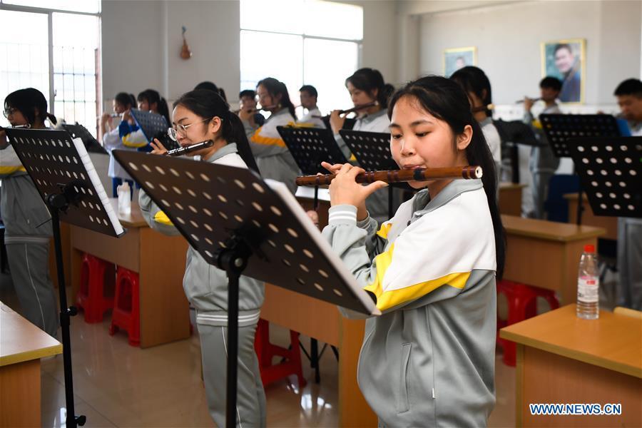 CHINA-HUNAN-XIANGXI-SCHOOL-MUSIC LESSON (CN)