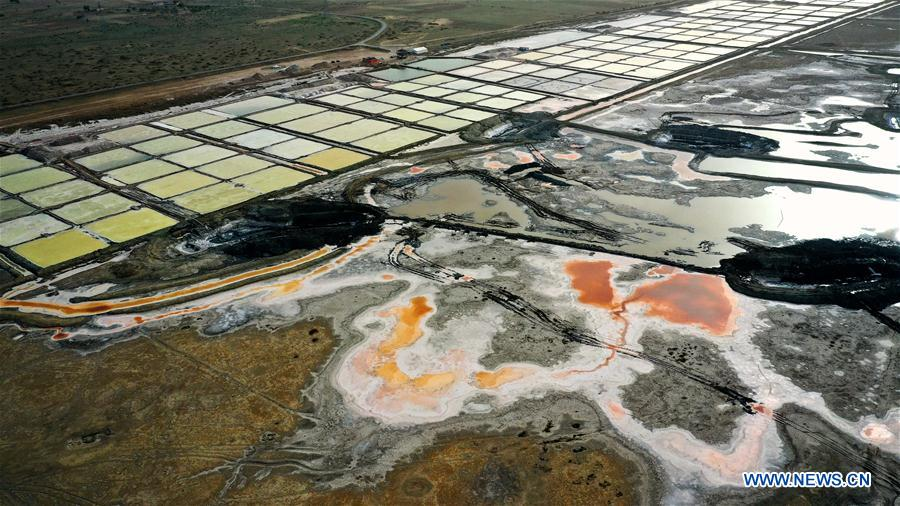 Biggest salt lake in Dingbian County, Shaanxi