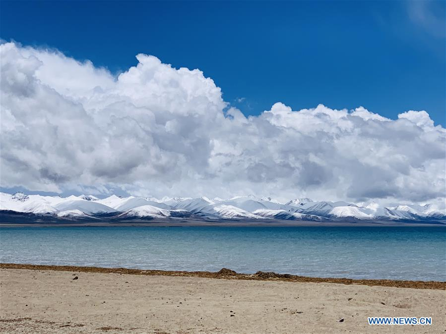 Scenery of Nam Co Lake in SW China's Tibet