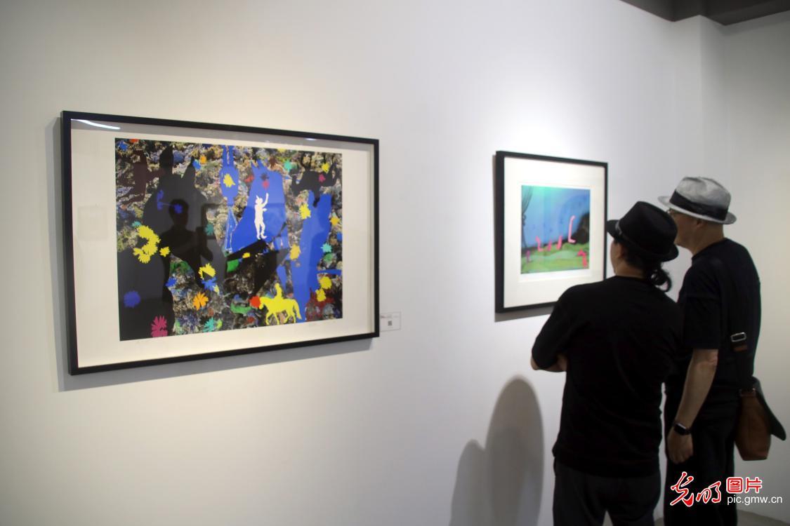 Art charityexhibition in Jiangsu, SE China