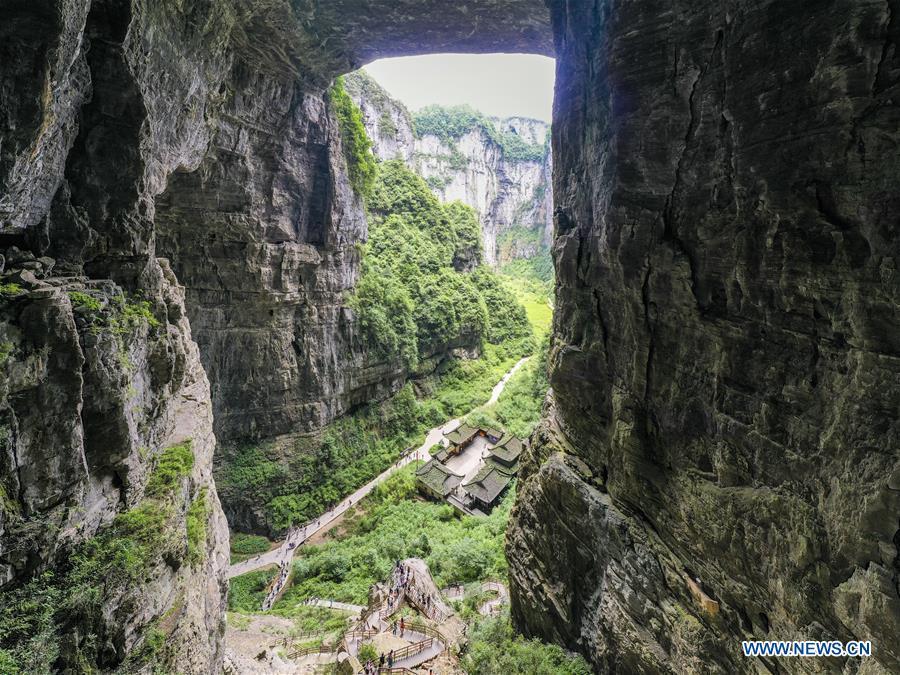 CHINA-CHONGQING-WULONG-TIANSHENG SANQIAO SCENIC AREA-LANDSCAPE (CN)