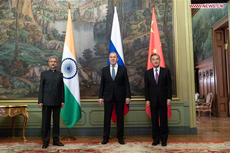 RUSSIA-MOSCOW-CHINA-RUSSIA-INDIA-FM-MEETING