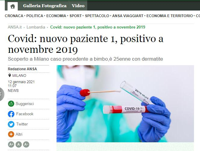Italian media: Milan woman identified as new 'patient 1' who had coronavirus in November 2019